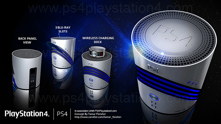 PS4 Console & Controller Concept Design by Tamar