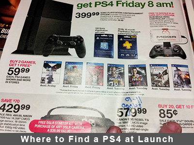 Where to Find a PS4 at Launch