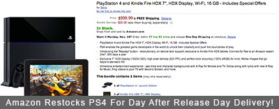 Amazon Restocks PlayStation 4 For Day After Release Day Delivery!