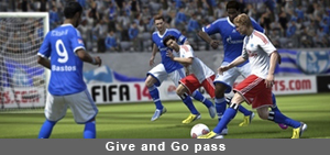 Fifa 14 Give and Go pass