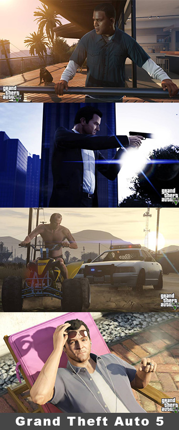 GTA V - Grand Theft Auto 5 on the PS4