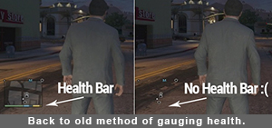 Grand Theft Auto gauging health