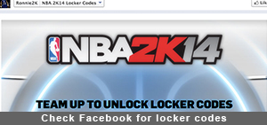 Check Facebook for locker codes