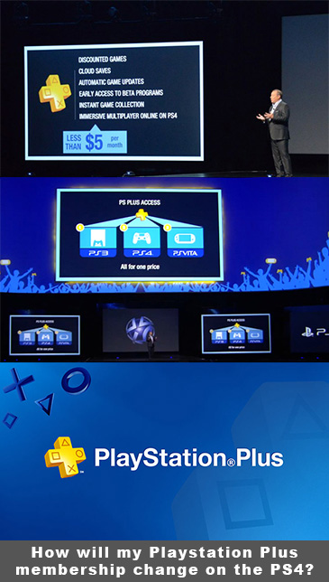 How will my Playstation Plus membership change on the PS4?