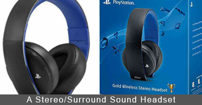 PlayStation 4 Stereo/Surround Sound Headset