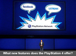 What new features does the PlayStation 4 offer?