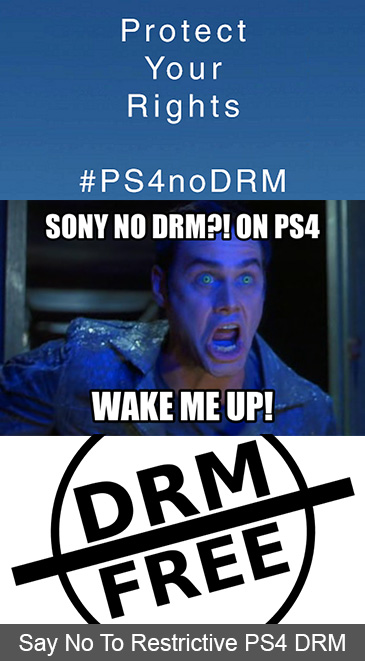 Say No To Restrictive PlayStation 4 DRM