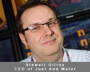 Stewart Gilray, the CEO of Just Add Water