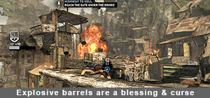 Tomb Raider Definitive Edition Explosive barrels