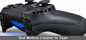 Use Motion Control to Type via the On-Screen Keyboard